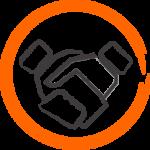 icône représentant une poignée de mains entre dirigeant de société et consulting