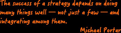 image décrivant la citation de Michael Porter sur la stratégie d'entreprise