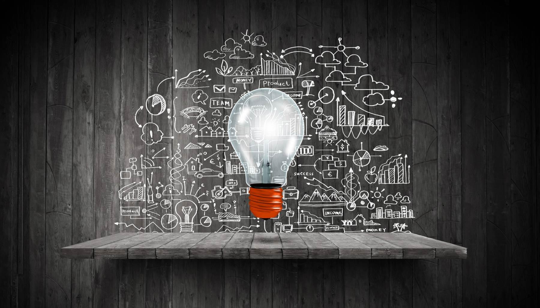 ampoule représentant les stratégies à l'étude pour être transformées